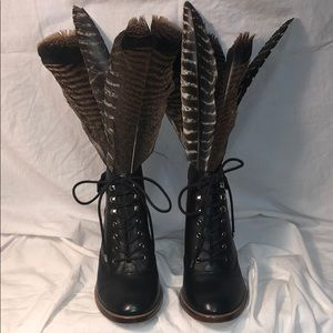 Gianni Bini. Lace up booties. 3 inches.